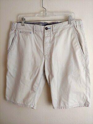 Paul Smith Jeans Mens Cream Khaki Super Compact Shorts 3 Ply Cotton Size 34