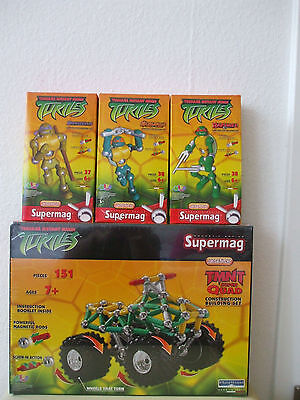 Supermag NINJA TURTLES TMNT QUAD + 3x Ninja 264 Teile NEU & OVP