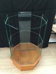 Vintage age display glass  shelf unit Caringbah Sutherland Area Preview