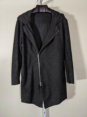Incarnation Gray Wool Avant Garde Full Zip Hooded Jacket XL Italy
