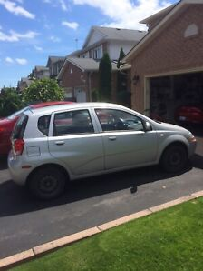 2006 Chevy aveo hatch back.. low low kms