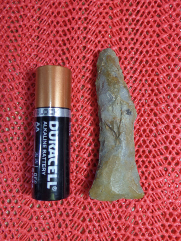 "RARE Native American ""Dog-Legged"" Stone Pipe Drill. Bath Co.Kentucky  AACA"