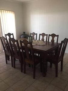 Custom Made Solid Jarrah Piece Dining Room Suite 8 chairs + table Seacliff Holdfast Bay Preview