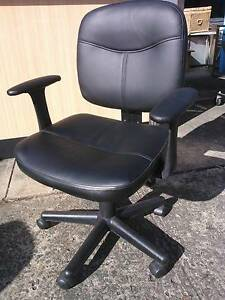 BLACK LEATHERETTE OFFICE COMPUTER CHAIR*LARGE RANGE*NEW & USED Cartwright Liverpool Area Preview