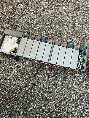 Allen Bradley Slc 500 Plc Rack W 1747-asb Adapter