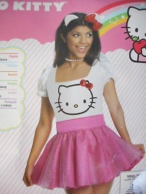 Rubie's Adult Women's Hello Kitty Halloween Costume Size S - Hello Kitty Adult Halloween Costume