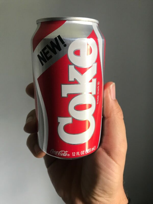 FULL CAN OF NEW COKE 1985 FORMULA STRANGER THINGS 3 LIMITED EDITION UNOPENED