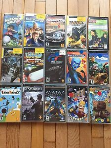 PSP Games (15 games) and Travel Case
