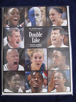 Uconn Huskies 04 Mens   Womens Ncaa Basketball Champions Hartford Courant Pub