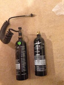Two CO2 tanks for paint ball