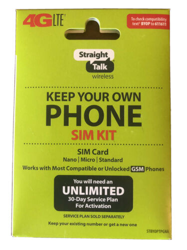 Straight Talk SIM Card for AT&T GSM Network Activation Kit F