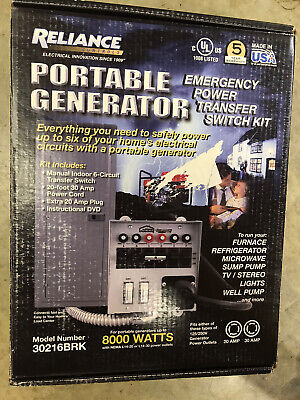 Reliance 30216brk 6 Circuit 30 Amp Generator Transfer Switch Newsealed
