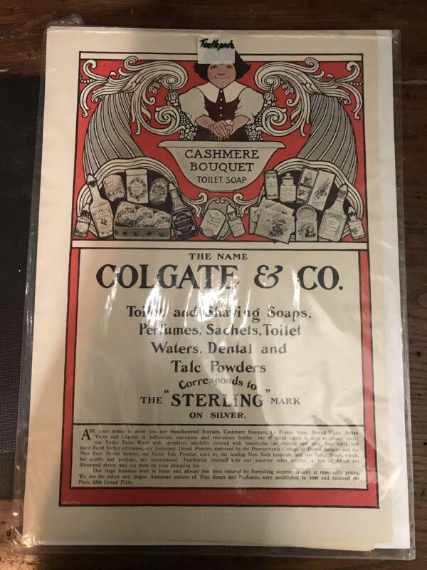 Antique Colgate Advertisement Paper Ephemera Ad NICE