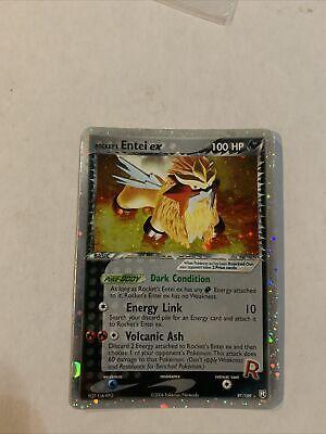 Rocket's Entei EX 97/109 EX Team Rocket Returns Ultra Rare Holo Pokemon Card NM