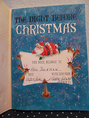 Vtg Hallmark Ambassador Clement Moore The Night Before Christmas Card Book 1965