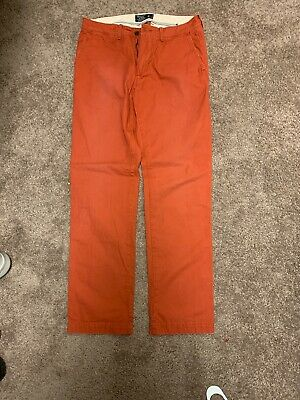 NWT Abercrombie & Fitch Slim Straight Chino Pants (Mens 30x32) Red