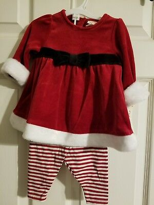 Baby Cat & Jack 3 pc set size 6-9 months NWT Christmas little Ms Claus outfit - Ms Clause Outfit