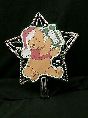 Disney inspired Winnie the Pooh Santa Christmas Tree Topper Ornament Star top