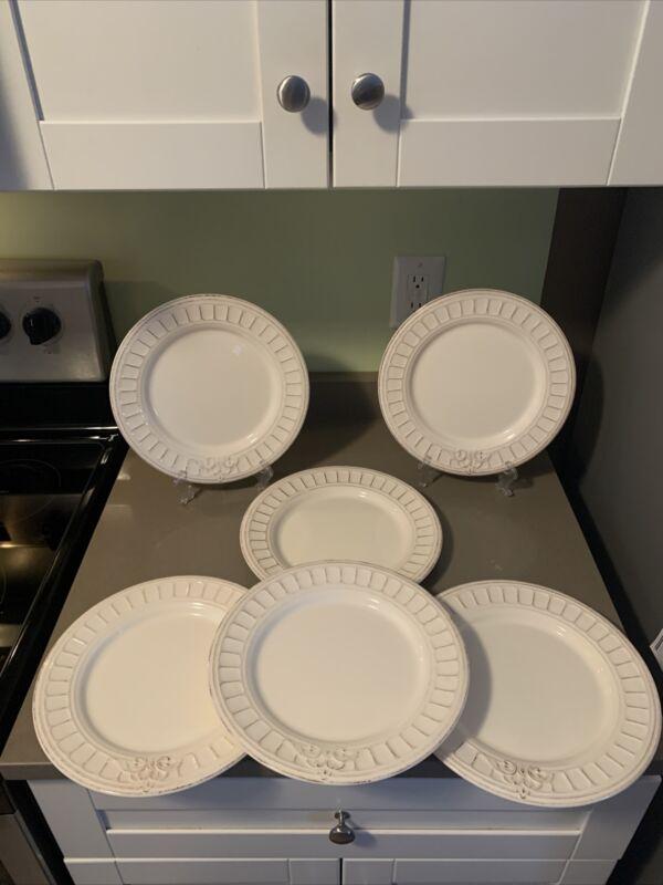 (6) Matceramica Dinner Plate Portugal  Emboss VENICE