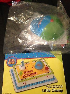 DecoPac LITTLE CHAMP BASEBALL HAT 1ST BIRTHDAY CAKE TOPPER DECORATING KIT NEW  - Hat Birthday Cake