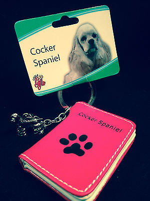 LITTLE GIFTS DOG KEY CHAINS WITH PICTURE WALLETS/ COCKER SPANIEL DOG CHARM (Spaniel Dog Photo Charm)