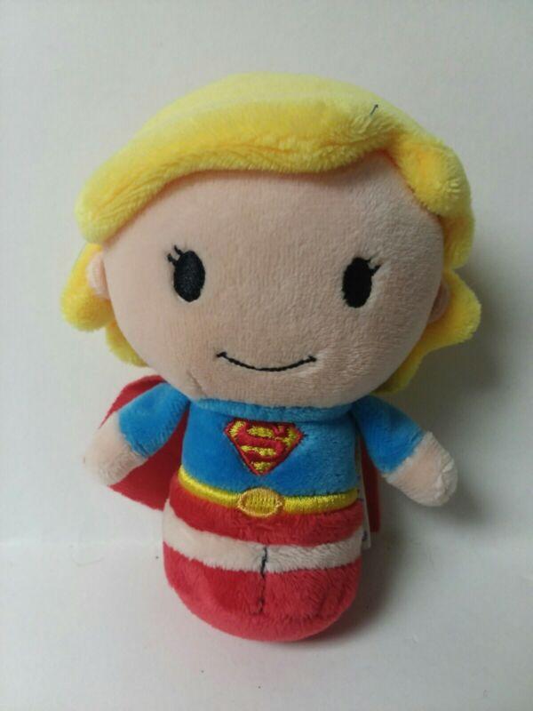 "Hallmark ITTY BITTYS 5"" Superhero SUPERGIRL Plush Toy Stocking Stuffer No Tag"