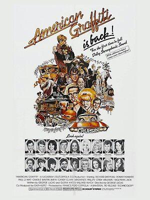 Aufkleber & Sticker Poster Plakat Aufkleber Sticker 1978 George Lucas American Graffiti Film-fanartikel
