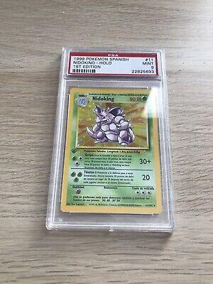Pokemon PSA 9 SPANISH Nidoking 1st Edition Base Set Holo Mint 1999 GEM 11/102