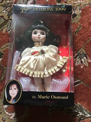 "Adora Belle Doll Marie Osmond Holiday 1999 15"" Gold  Dress"