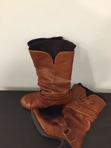 Aldo women's size 6 brown leather boots