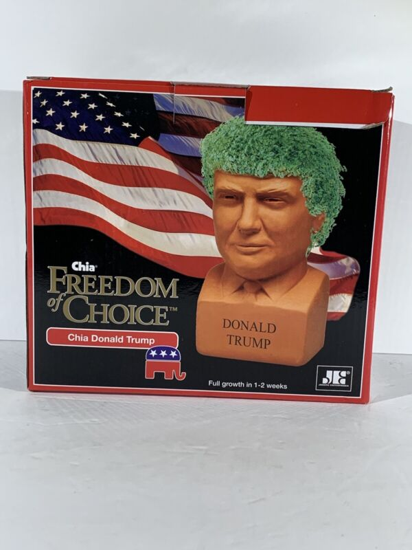 Chia Pet Freedom Of Choice Donald Trump 2016 New In Box.