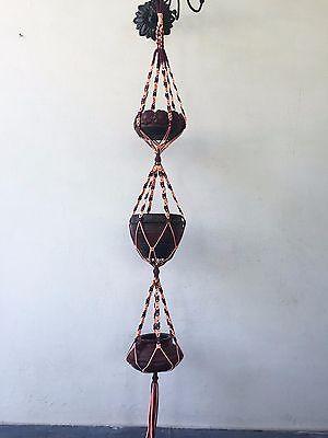 3 tier handmade Macrame plant hanger pot hanger bird feeder 60 inches