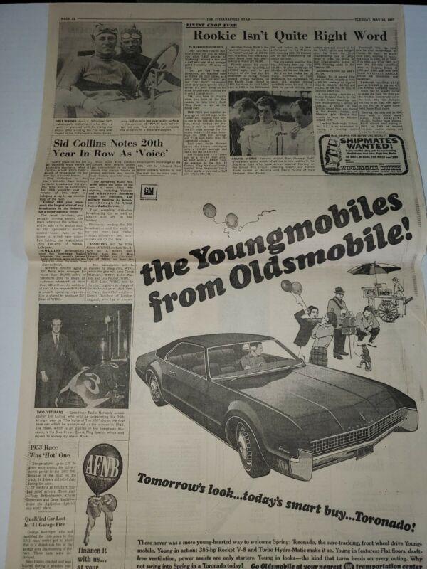 1967 Oldsmobile Tornado newspaper ad