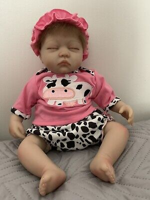 """Pinky 17"""" 43cm Real Touch Soft Silicone Lifelike and Handmade Reborn Baby Dolls"""