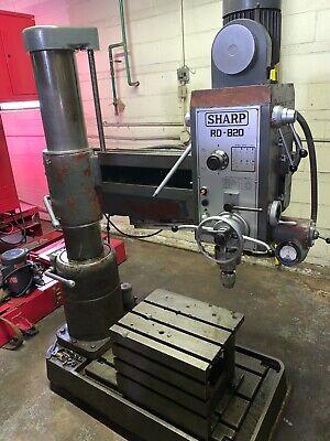 Sharp Rd-820 3 X 8 Column Radial Drill