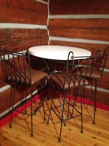 Pub Table with 3 chairs.