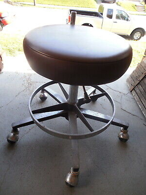 Dental Medical Assistant Adjustable Height Office Cushion Chair Stool Seat