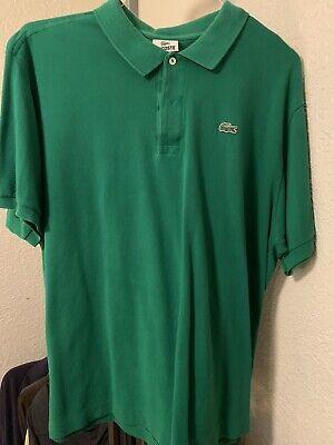 Men's Lacoste Polo Shirt Size 8 2XL Green EUC!