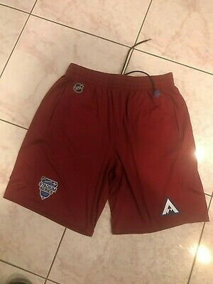 2020 Colorado Avalanche Player Issued Stadium Series Fanatics Player Shorts LG Colorado Avalanche Player