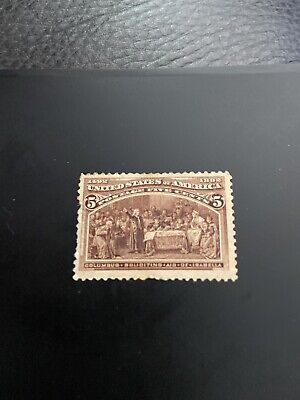 US Stamp Scott #234 Colombian Expedition 1893 Mint Hinged.. SCV $50