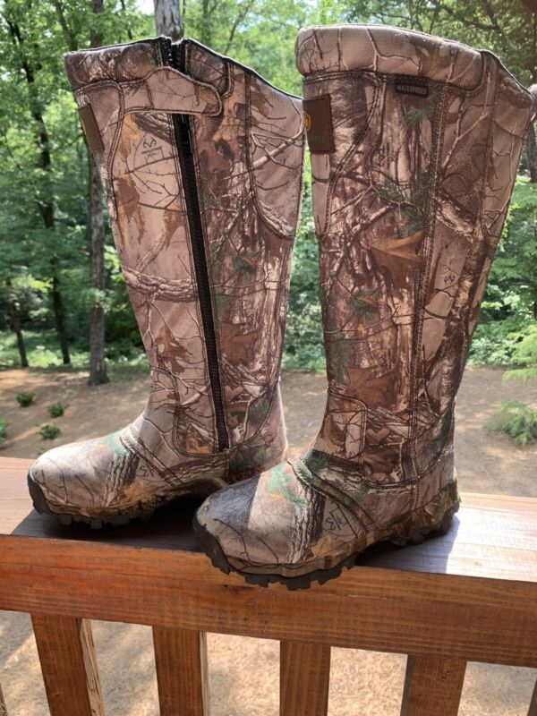 Waterproof Camouflage Snake boots  Realtree Game Winner Men Sz 8 Women Sz 9