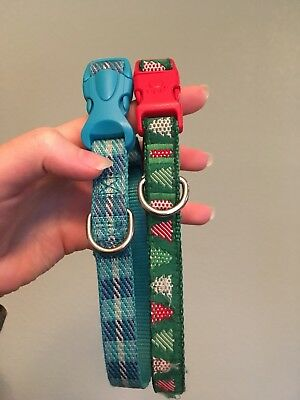 Top Paw Dog Collars (Small), blue plaid/holiday
