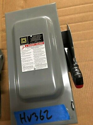 New Square D Hu362 60 Amp 600v Non Fused 3ph Type 1 Safety Switch Disconnect