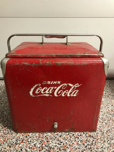 VINTAGE Coca Cola COKE Cooler Progress Refrigerator Co Louisville,KY GUC Origina