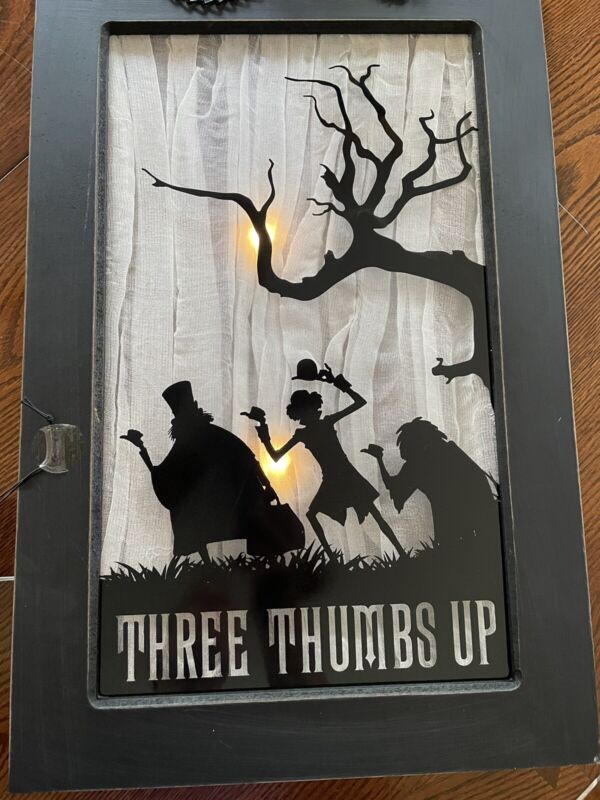 New Disney Haunted Mansion 3 Thumbs Up Lighted Sign