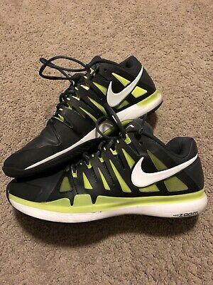 9cf4813c5d5b1 Nike Vapor 9 Federer French Open 2012 Black Grey Green Roland Garros 10.5