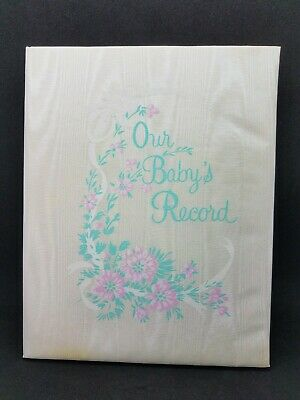 Vintage 1976 Keepsake Memory New Baby Milestones Album Book Scrapbook NIB