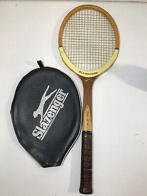 6dd0bf9756 VTG Slazenger Challenge No. 1 Wood Tennis Racket Racquet with Original Cover