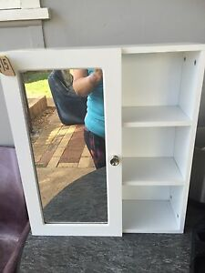 Small white cabinet Campbelltown Campbelltown Area Preview