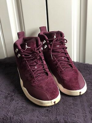 Air Jordan 12 Retro Bordeaux Burgundy/White 130690-617 Size 12